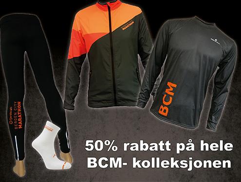 50% rabatt på BCM-kolleksjonen