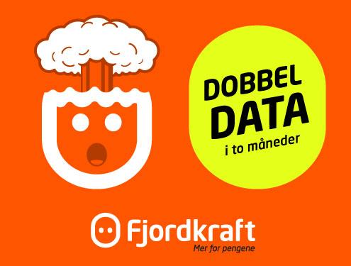 Få dobbel data i 2 mnd.